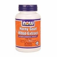 NOW Foods Horny Goat Weed 750 mg-90 Tablets