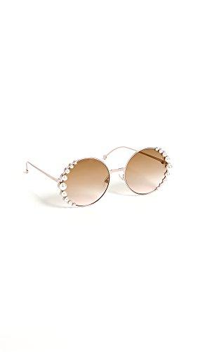 Fendi Women's Round Pearl Frame Sunglasses