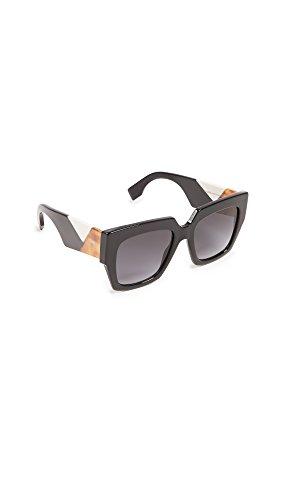Fendi Women's Square Colorblock Sunglasses