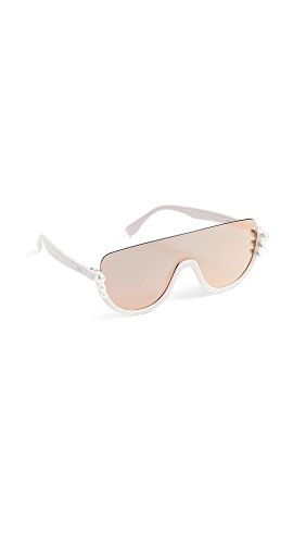 Fendi Women's Bottom Frame Imitation Pearl Sunglasses