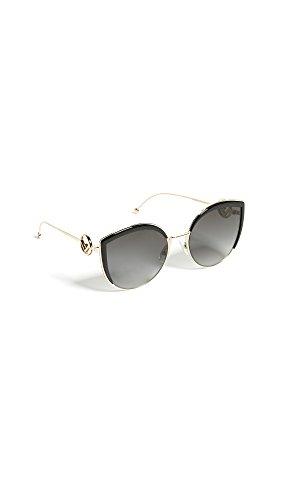 Fendi Women's Round Slight Cat Eye Sunglasses