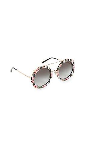 Dolce & Gabbana Women's Round Print Ro Sunglasses