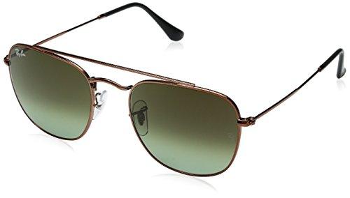 Ray-Ban Men's Metal Man Non-Polarized Square Sunglasses (RB3557), Medium Bronze, 51 mm
