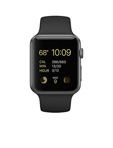 New Apple Watch Series 1 Smartwatch (Space Gray Aluminum Case, Black Sport Band)