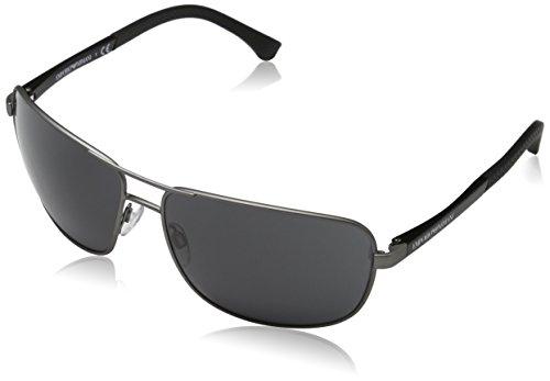 Emporio Armani EA2033 313087 Gunmetal EA2033 Square Pilot Sunglasses Lens Categ