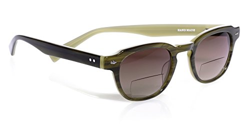 eyebobs Bench Mark Reader Sunglasses, Green Khaki, Reader Sunglasses with Bi-Focal lens SUPERIOR QUALITY- The best $79 you will ever spend