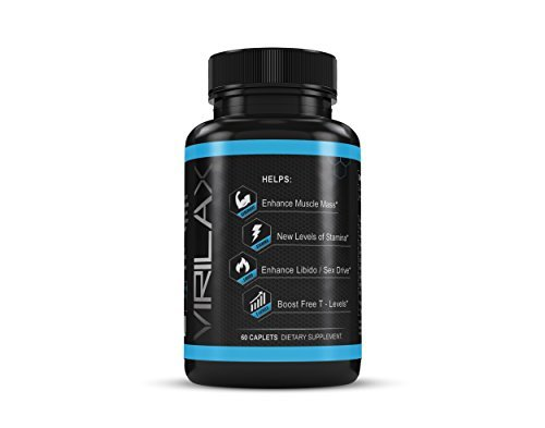 Testosterone Booster Dietary Supplement By Virilax – 60 Caplets W/ Horney Goat Weed, Tongkat Ali Extract & FlowViv Max-Test Blend – Enhances Muscle Mass & Libido & Improves Stamina & Performance