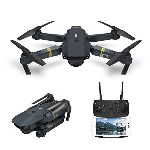 Drone With Camera Live Video, EACHINE E58 WIFI FPV Quadcopter With 120° Wide-angle 720P HD Camera Foldable Drone RTF – Altitude Hold, One Key Take Off/Landing, 3D Flip, APP Control, Gravity sensor
