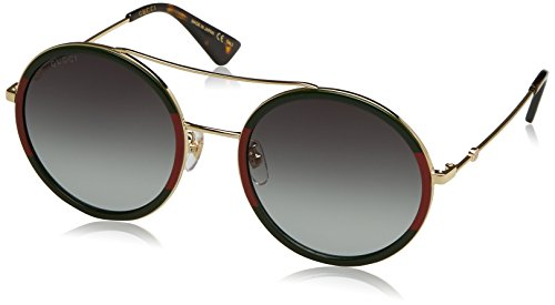Gucci GG0061S 003 Green/Red / Gold GG0061S Round Sunglasses Lens Category 3 S