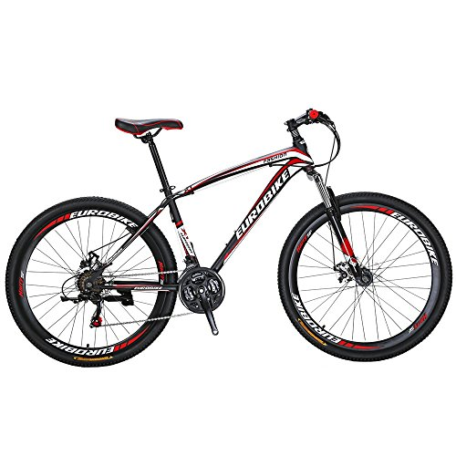 EUROBIKE X1 27.5 Inch Wheels Mountain Bike 21 Speed MTB Bicycle Suspension Fork Mountain Bicycle
