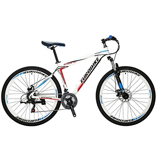 EUROBIKE Mountain Bike GTR 27.5″ 21Speed Dual Disc Brake Aluminum Bicycle
