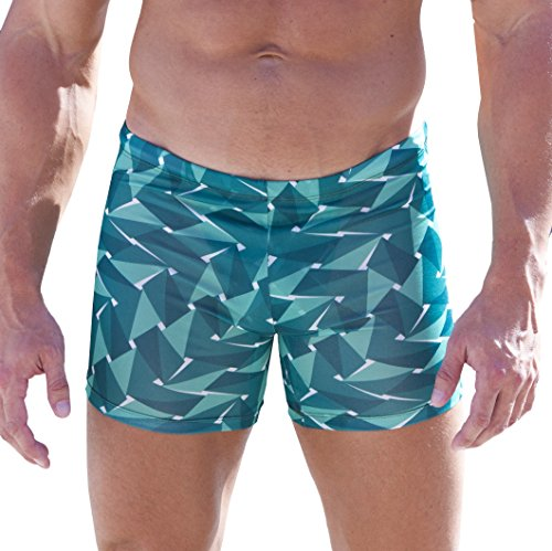 Cooltan Men's Tan Through Sport Shorts Jammers Emerald