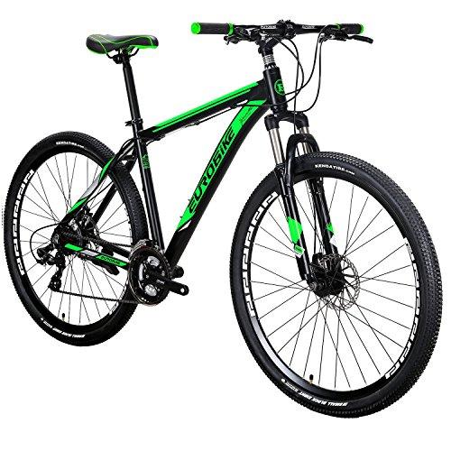 EUROBIKE X9 Mountain Bike 21 Speed 29 Inches Wheels Dual Disc Brake Aluminum Frame MTB Bicycle