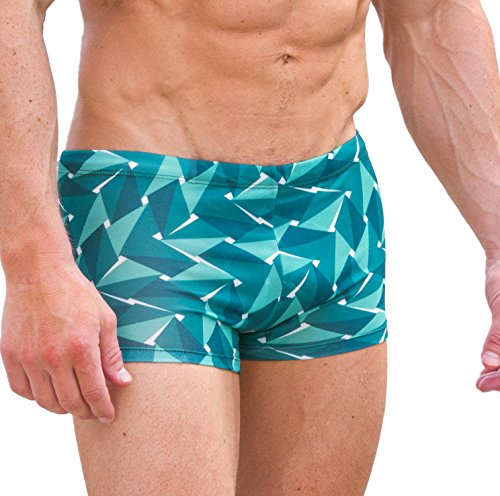 Cooltan Men's Sun Through Hipster Swim Shorts Emerald