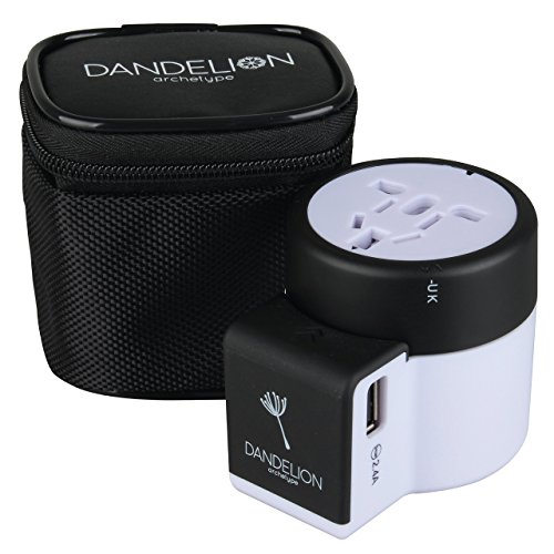 Travel adapter All In One Outlet with dual USB ports Universal Charger